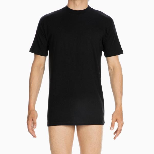 Hom- T-Shirt U Ausschnitt Schwarz