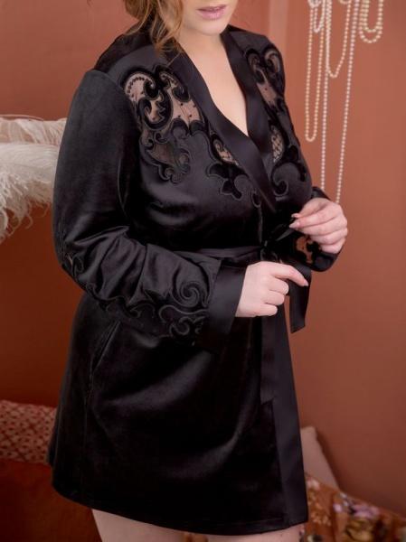 Marjolaine- Noor Samt Negligé, M-6NOO2001-Shortcoat