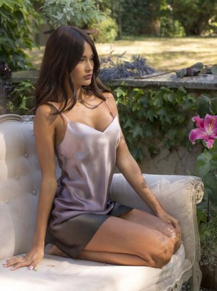 Marjolaine-Nachthemd- Milia-CT3160101-Rosa / Schwarz-3