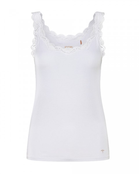 Joop Hemdchen mit Spitzen Mere Comfort Weiß - Detailansicht