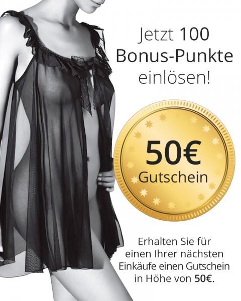 Wert-Gutschein 50 € für 100 Bonus-Punkte