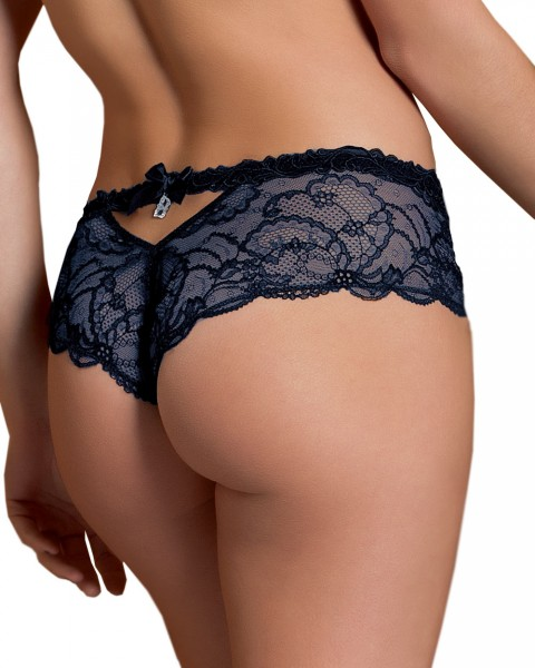Sexy French String Serie Soir de Venise von Lise Charmel - Farbe Nachtblau - Rückenansicht