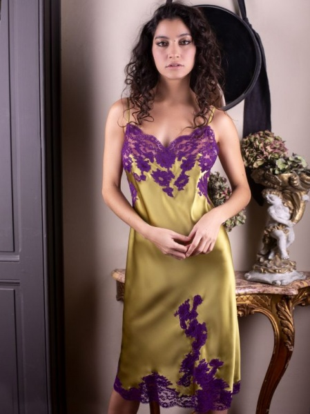 Majolaine - Unterkleid Marjolaine Linden / Violet-M-3mar6101-2268