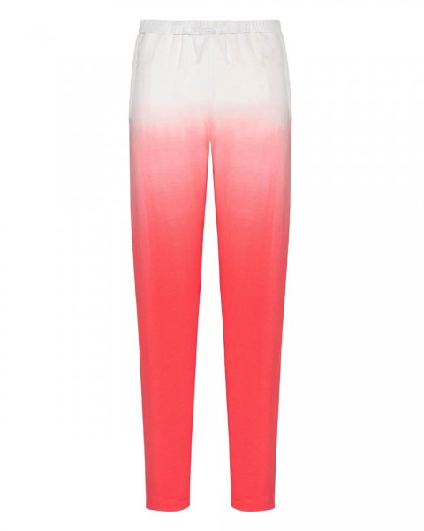 JOOP! Loungewear Hose, lang im Batik-Look Soft Pop Champagner-Koralle