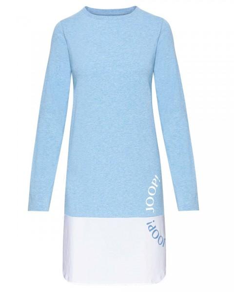 JOOP! Langarm Shirt/Kleid Smart Chic Hellblau-Weiss - Detailansicht