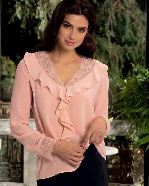 Fleur Citadine Rosa - Seiden Bluse