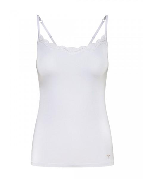 Mere Comfort - Top mit Spitze Weiß