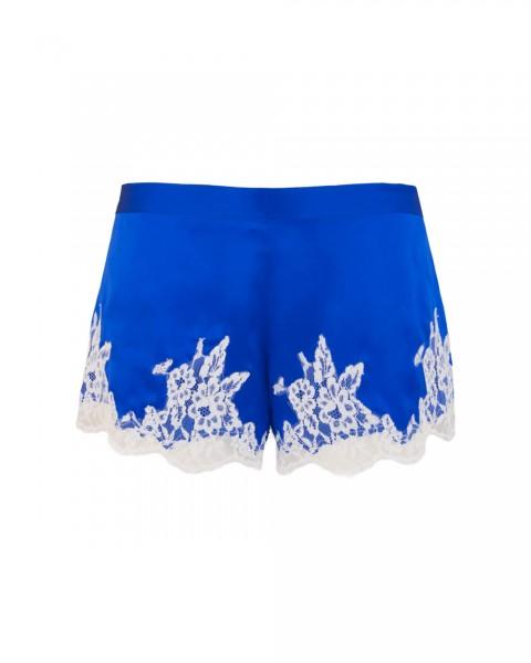 Lise Charmel Shorts Splendeur Soie Seide Kornblumen Blau - Detailansicht