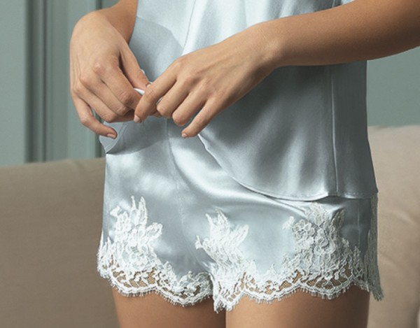 Splendeur Soie Azur - Seiden Shorts