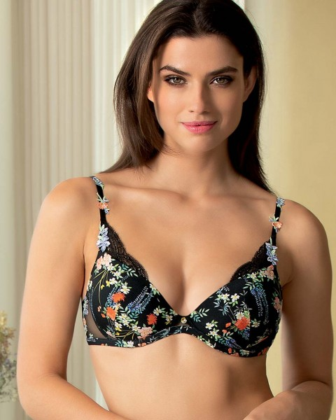 Lise Charmel Push up Schalen BH Patio Glycine Schwarz ACG8536
