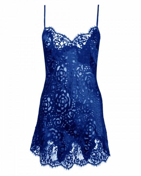 Lise Charmel Seiden Babydoll Dressing Blau - Detailansicht