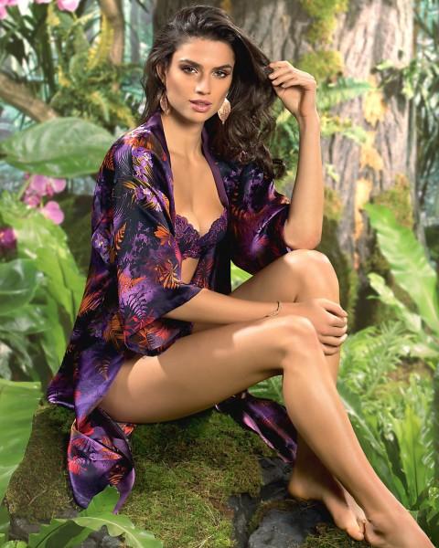 Lise Charmel Seiden Kimono Foret Lumiere