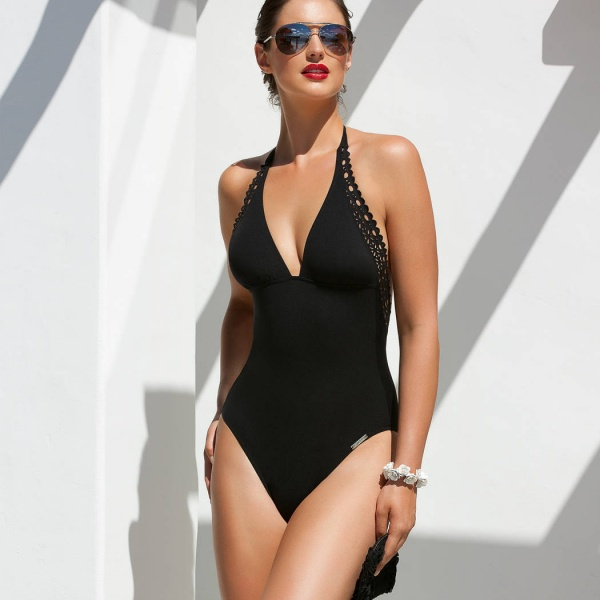 Lise-charmel-Bademoden-B15-Ajourage Couture-ABA9815-Swimmer-Schwarz-Front-5
