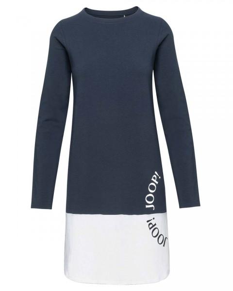 JOOP! Langarm Shirt/Kleid Colorblocking Smart Chic Blau-Weiss - Detailansicht