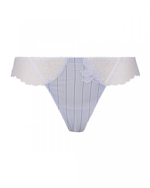Lise Charmel Sexy String Dandy Nautique Weiss Hellblau - Detailansicht