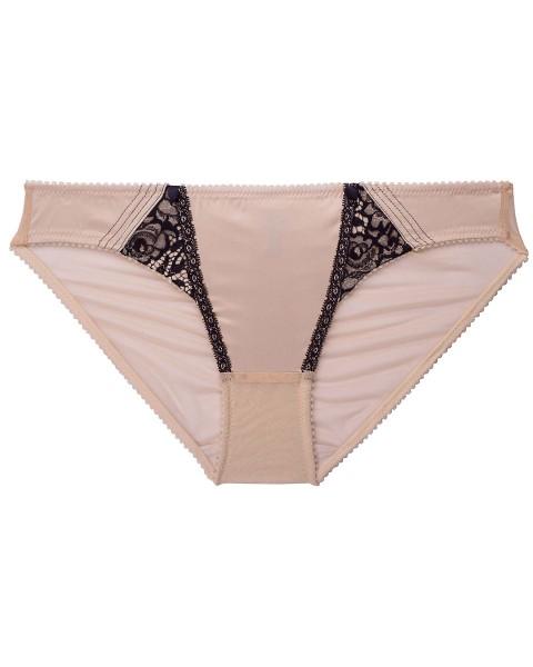 Slip Serie Raffine Dita von Teese - Farbe Nude mit schwarzer Spitze - Detailansicht