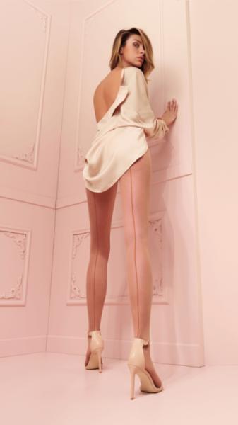 Trasparenze Jessy- Halterstrumpf- Nude mit Nude Naht
