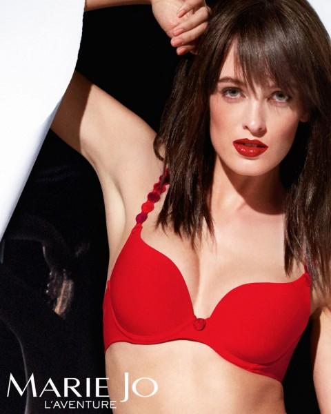 T-Shirt BH Träger als Außenträger Serie Tom von Marie Jo L`Aventure - Farbe Scarlett Rot