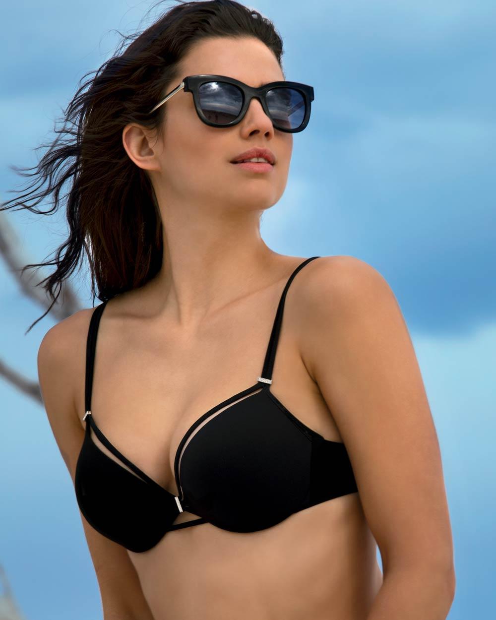 Hoher Slip Aubade ÉCLAT d/' Oasis - schwarz 38 Bikini-Slip