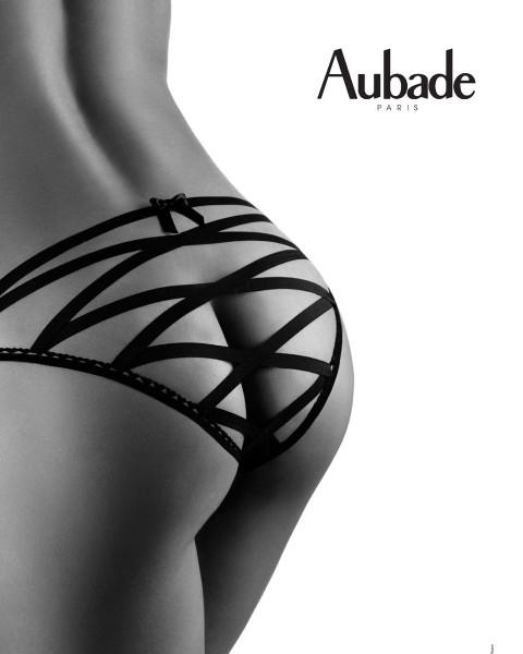 Boite A Desir Bänder Slip von Aubade - Farbe Schwarz