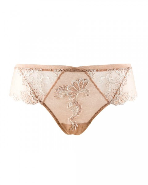 Shorty Dressing Floral Lise Charmel - Farbe Haut( Ambre/ Champagner) - Detailansicht