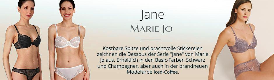 Jane Dessous Marie Jo, Spitze in Champagner, Schwarz und Mode in Iced Coffe
