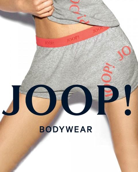 JOOP! sportive Shorts Summer Chic Grau/Koralle